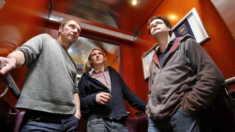 De leden van Kraak & Smaak: Mark Kneppers, Oscar de Jong en Wim Plug.