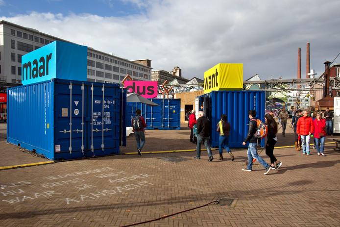 Archiefbeeld van de Dutch Design Week in Eindhoven op het Ketelhuisplein op Strijp-S