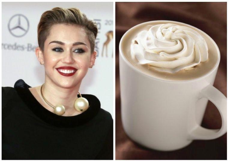 Miley Cyrus kiest een white mocha.