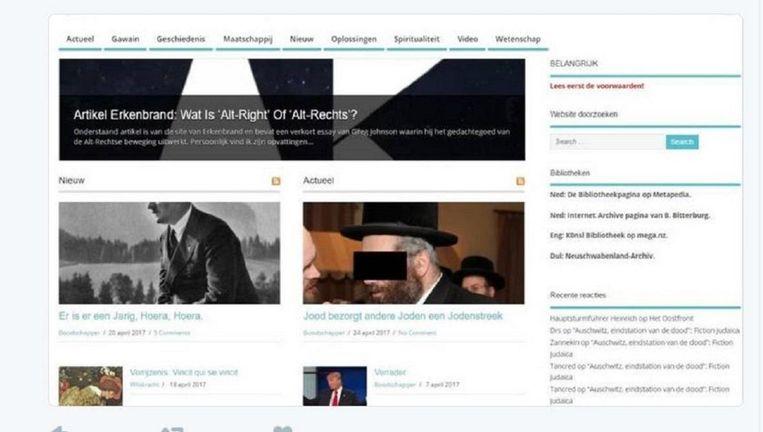 De site altrechts.com die niet meer te bereiken is. Beeld Twitter