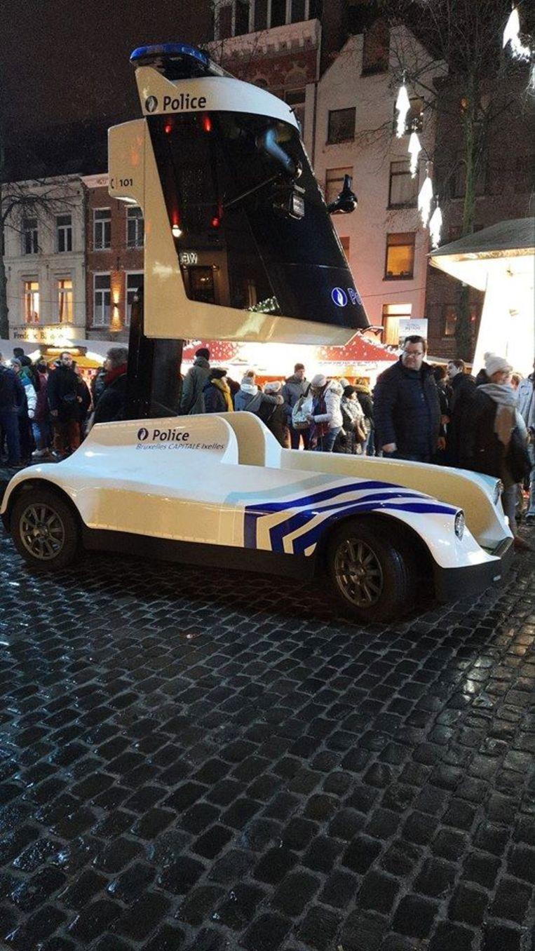 De 'batmobiel' wordt nog tot 15 januari door de Brusselse politie getest.