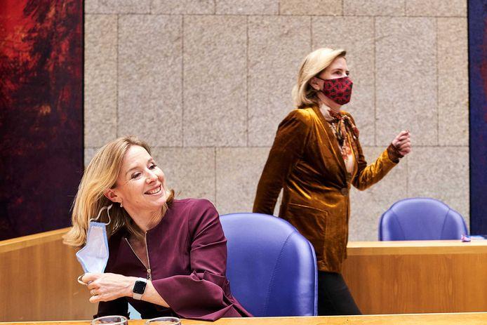 Staatssecretaris Stientje van Veldhoven dinsdag in de Tweede Kamer.