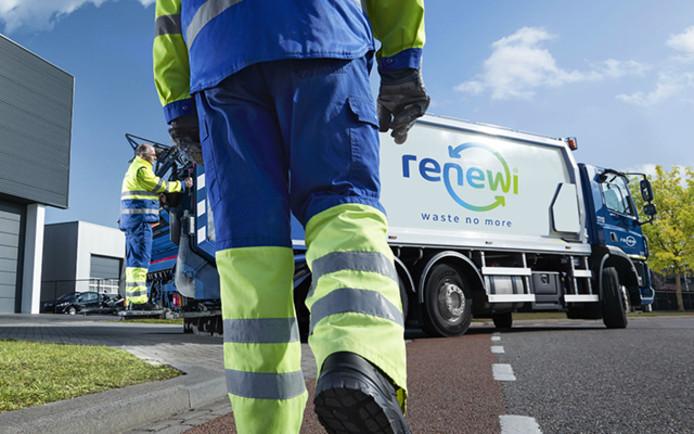 Mensen van Renewi aan het werk.