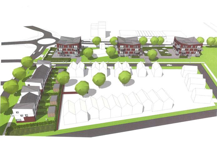 Appartementencomplex en woningen aan de Bischop Balderikstraat