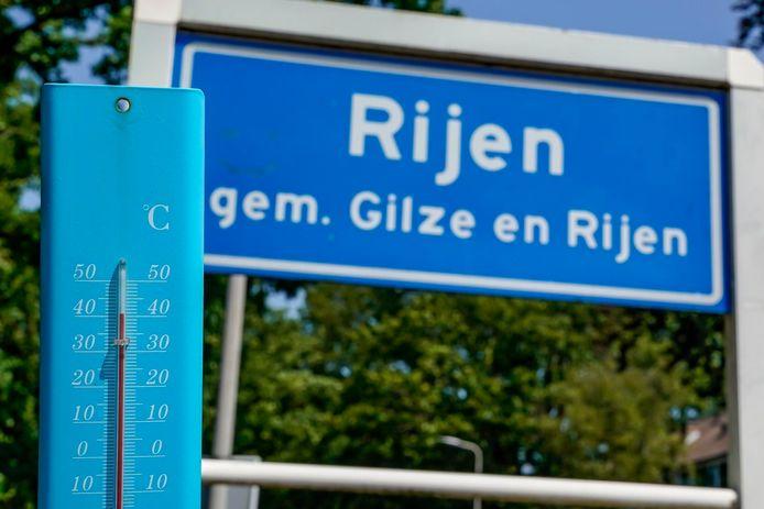 Nieuw hitterecord gemeten in Gilze-Rijen op woensdag 24 juli 2019.