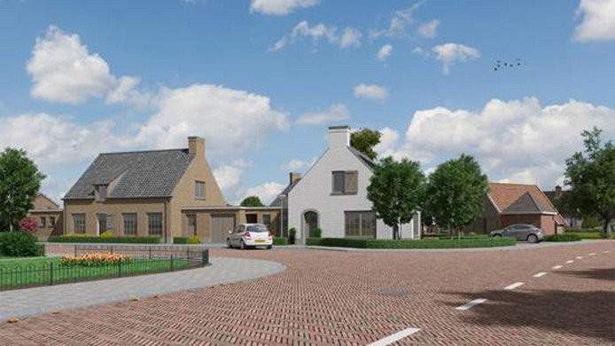 Een ontwerp voor het bouwplan aan de Reggestraat en de Zuiderstraat in Enter.