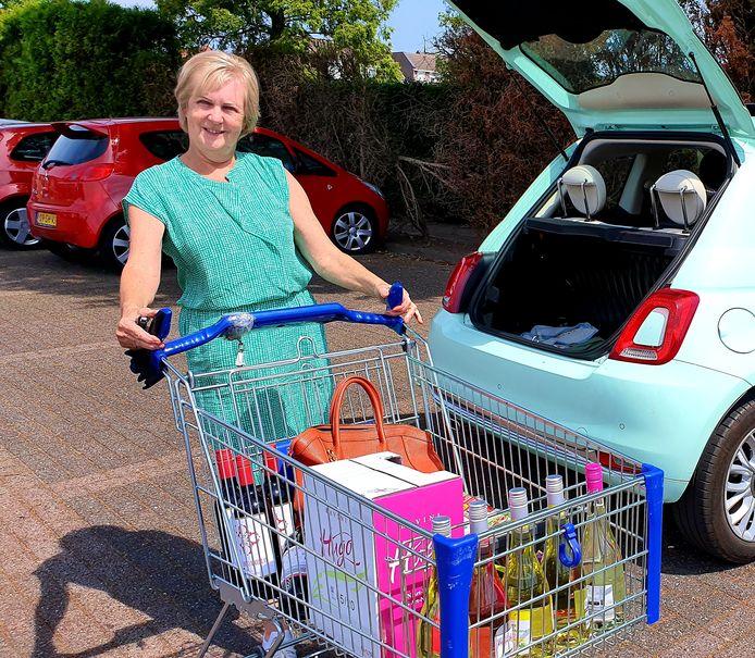 Linda Somers uit Wuustwezel, bij de Aldi in Zundert.
