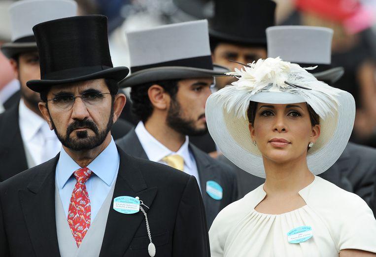 Sjeik Mohammed bin Rashed Al Maktoum en prinses Haya Bint Al Hussein in 2009