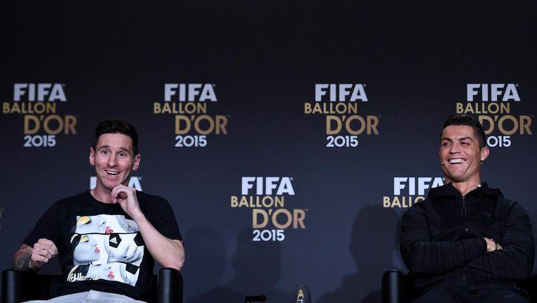 Lionel Messi en Cristiano Ronaldo kunnen hun jaarsalaris wel waarderen Beeld epa