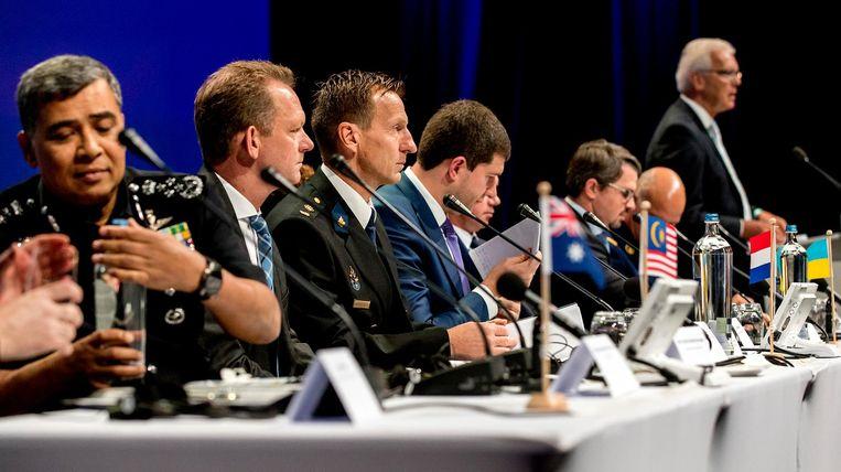Het Joint Investigation Team presenteert de resultaten van het onderzoek naar de crash met vlucht MH17 Beeld anp