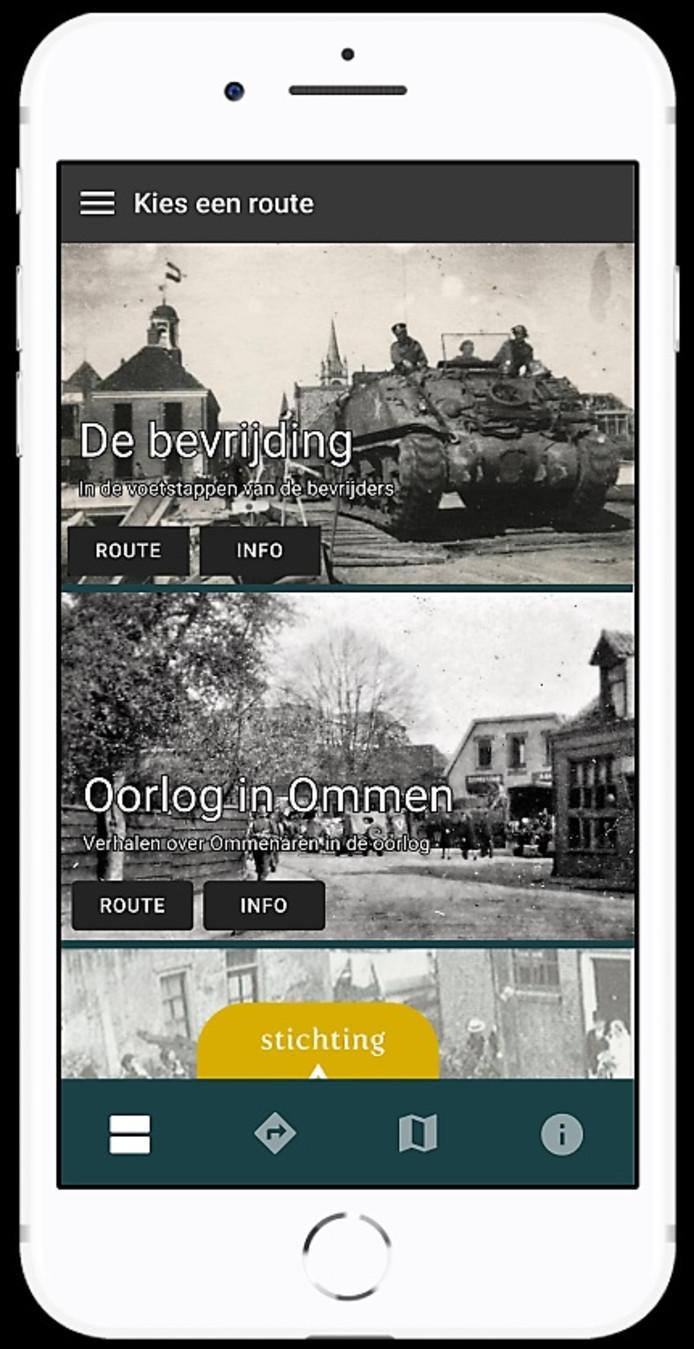 Demoversie van de app die 75 jaar vrijheid in Ommen belicht.