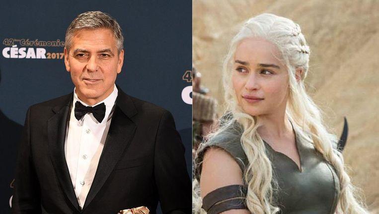 George Clooney en Daenerys Targaryen. Beeld epa