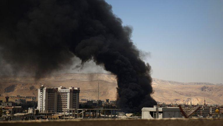 Damascus, een kleine maand geleden na een succesvolle operatie van Amerikaanse commando's waarbij IS leider Abu Sayyaf werd gedood. De commando's vonden ook meerdere terabytes aan informatie.