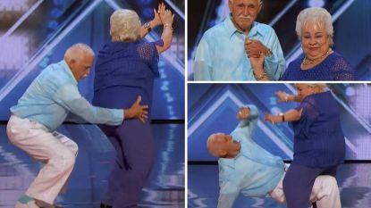 Ouder koppel verrast juryleden 'America's Got Talent' met pittig staaltje 'dirty dancing'