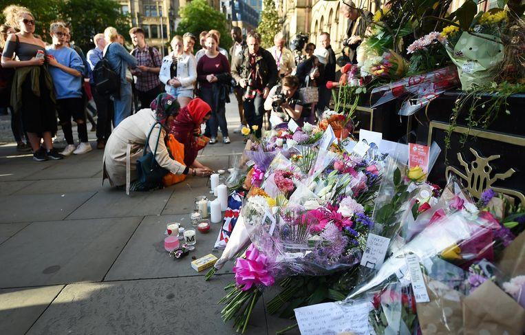 Bloemen in Manchester. Beeld epa
