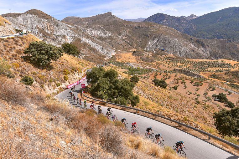 De 15de etappe van de Vuelta in 2017: Alcala la Real - Sierra Nevada. Beeld Corbis via Getty Images