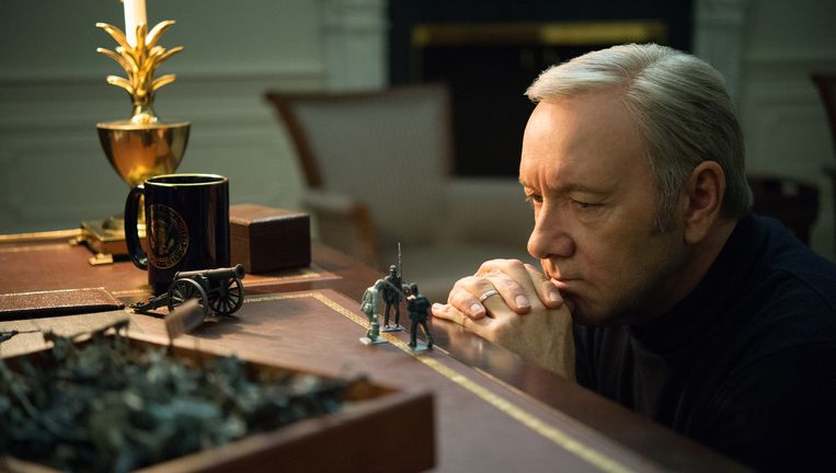 Frank Underwood (Kevin Spacey) in House of Cards. Beeld Netflix