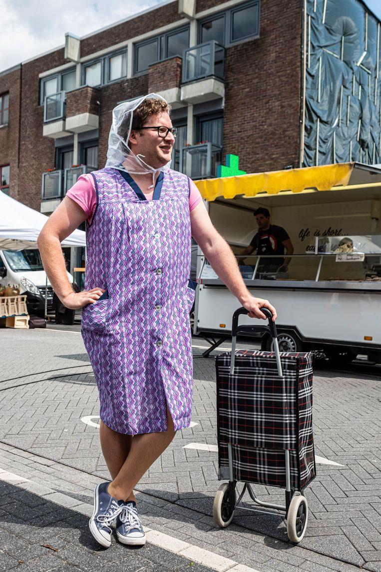 'Bomma Bart' op de markt.