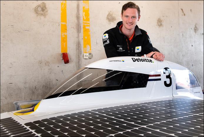 Zandvoort - Tom Salden zit in het Vattenfall Solar Team van de TU Delft.