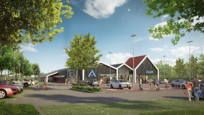 De Aldi heeft een zeer compleet beeld van hoe de nieuwe vestiging aan de Almeloseweg eruit moet zien.