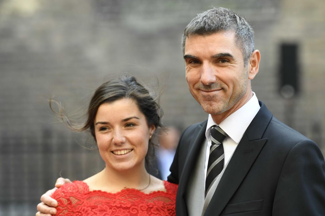 Paul Blokhuis met dochter Thamar tijdens op Prinsjesdag.