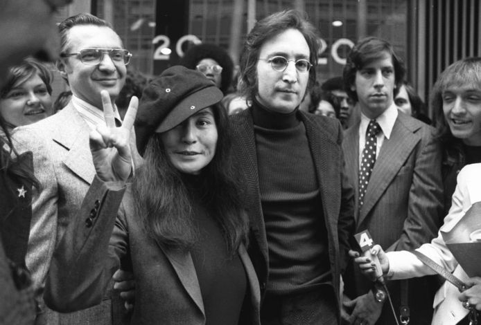John Lennon en Yoko Ono in 1972.