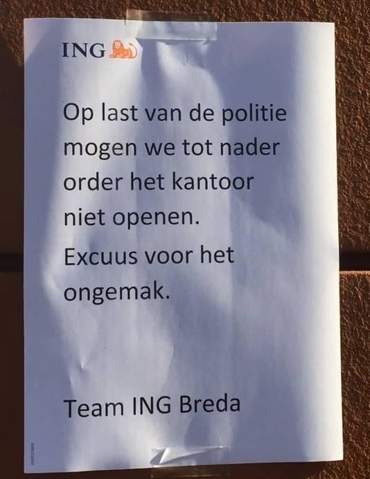 ING-bank blijft dicht.