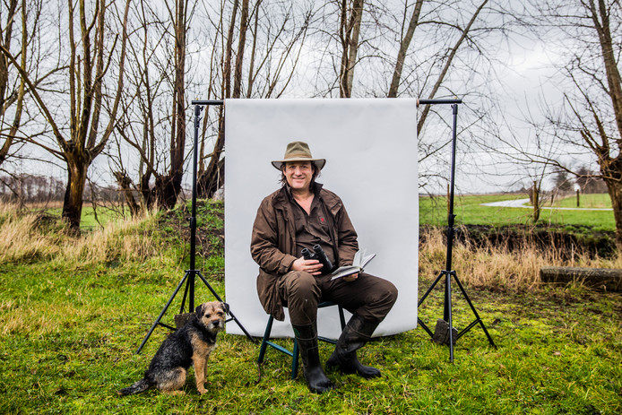 Arjan Postma, boswachter en schrijver van boeken als Buiten gebeurt het. Foto: Shody Careman