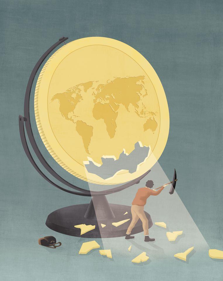 Zakenbank Lehman Brothers was net failliet gegaan, maar Jelle Tieleman hoorde er geen woord over tijdens zijn studie economie. En dat is tekenend voor de studie, betoogt hij. Beeld Ana Yael