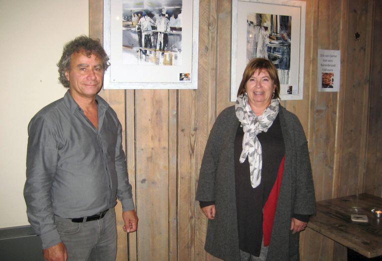 Gerda Mentens stelt tentoon in café-brouwerij De Schieve van Frank Mannaerts.