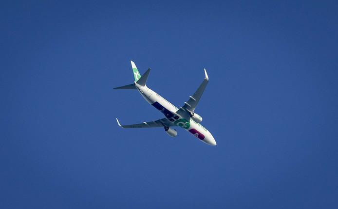 De Boeing 737-800 die op alle beoogde vertrek- en aankomstroutes vanaf Lelystad Airport vloog.