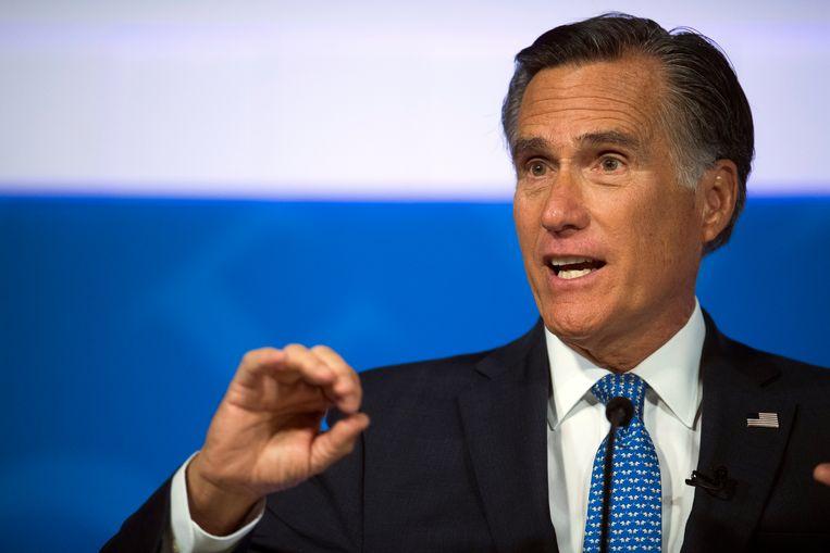 Mitt Romney in oktober 2018 tijdens een debat. Beeld AP
