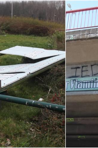 'Dilbeek, waar Vlamingen thuis zijn' opnieuw onder handen genomen: vandalen vernielen bord met bekende slogan op