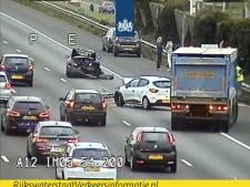 Boetes uitgedeeld voor negeren rode kruizen op A12 na ongeluk