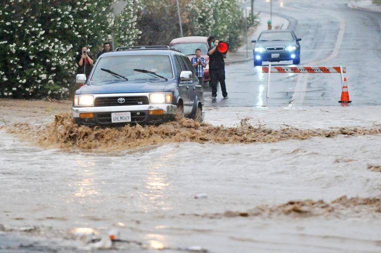 Overstromingen in Californië (archiefbeeld).