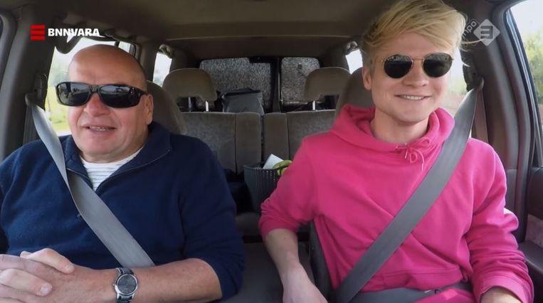 Fred Teeven en Kalvijn in De gevaarlijkste wegen van de wereld. Beeld Gidi Heesakkers