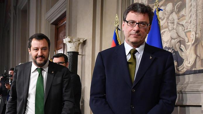 Matteo Salvini, ministre italien de l'Intérieur, et Gian Marco Centinaio, ministre de l'Agriculture