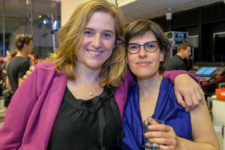 Elke Van den Brandt en Tinne Van der Straeten. Groen is grootste winnaar aan Nederlandstalige kant voor de Brusselse verkiezingen