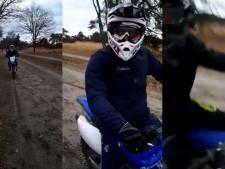 Motorcrossers slaan mobiel uit handen van man die met kleinkinderen wandelt