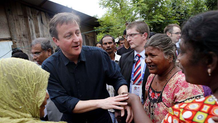 Cameron vandaag in Jaffna. Beeld ap