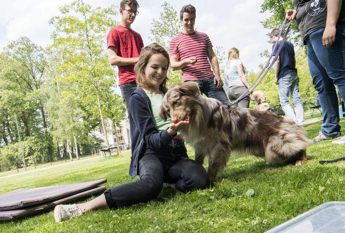Robin Weijland met hond Neal.