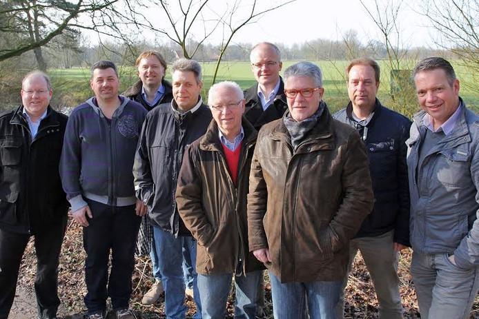 De leden van de werkgroep Glasvezel voor de gemeente Losser.