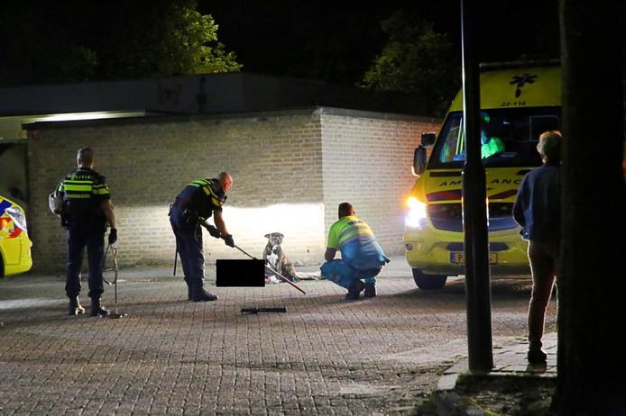 Op de Varkensmarkt in Bladel werd in de nacht van zaterdag op zondag een zwaargewonde vrouw aangetroffen.