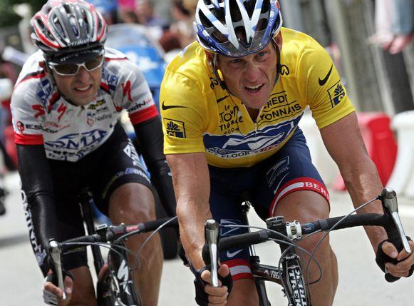 Simeoni en Armstrong tijdens de Tour van 2004.