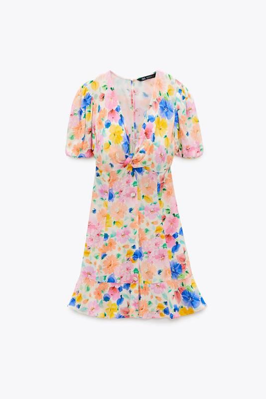 Mini-robe imprimée - 39,95 euros.