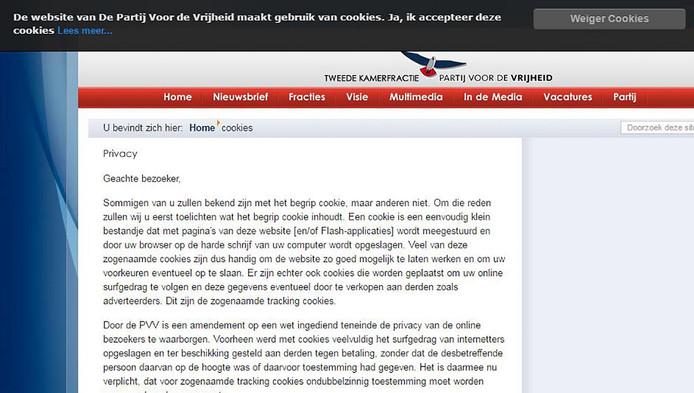 De PVV is de ergste overtreder van de privacyregels