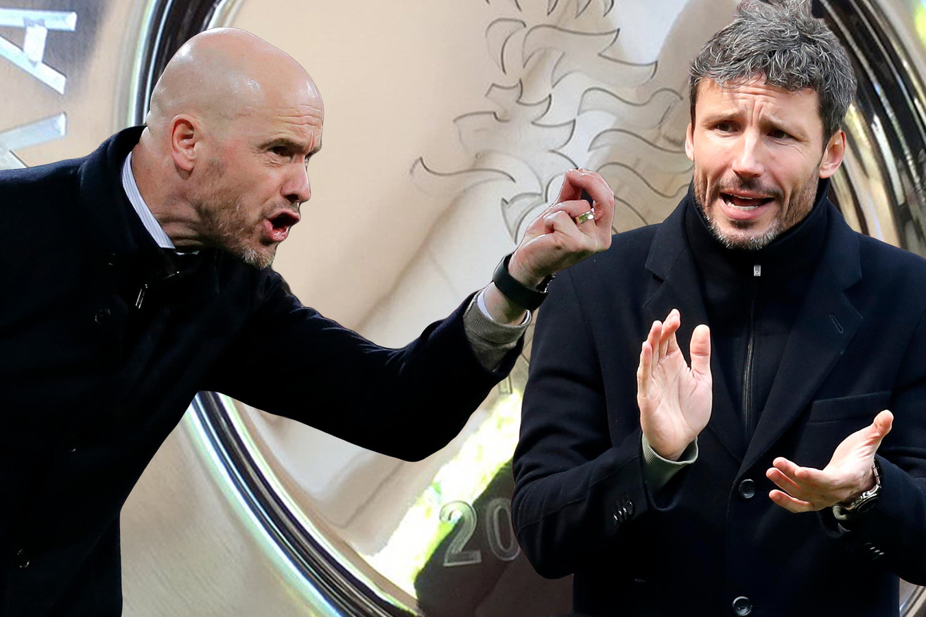 Erik ten Hag en Mark van Bommel.