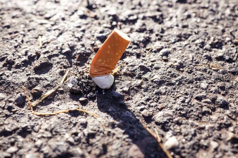 Een sigarettenpeuk.