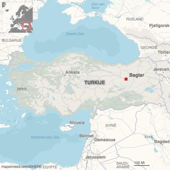 Het dorp Baglar ligt in de provincie Erzincan in de regio Oost-Anatolië.