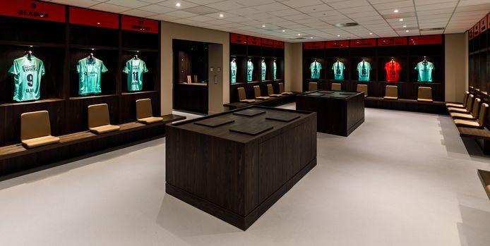 De nieuwe kleedkamer van Willem II.